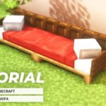 [Minecraft] Easy! How to make a stylish sofa(Tutorial)