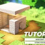 [Minecraft] How to Build a Stone Modern House(Tutorial)