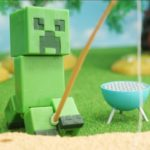 Minecraft StopMotion cooking 「creeper Camp lunch」マインクラフトの不思議な料理「「クリーパーのキャンプランチ」