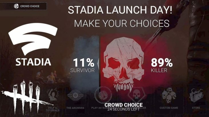 Dead By Daylight live stream| Stadia Crowd Control!