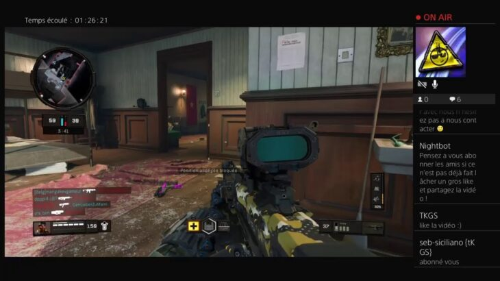 Call of duty black ops 4 : Zombie Br multiple  abonne toi