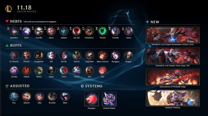 RESULTS of Patch 11.18 | League of Legends